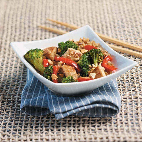 Chicken Broccoli and Red Pepper Stir-Fry